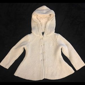 Nautica cream toddler knit & shepa hood sweater